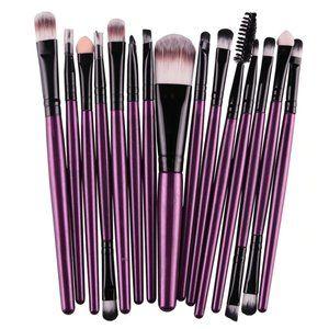 NEW 15 pcs Purple Pro Makeup Brush Set